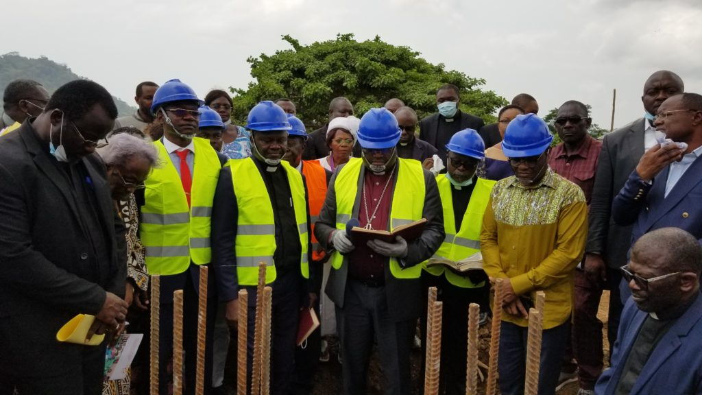 The Moderator of the PCC the Rt. Rev. Fonki Samuel Forba has laid the foundation stone of the Cameroon Inclusive Child Eye Health otherwise called the Paediatric Eye Hospital in Limbe