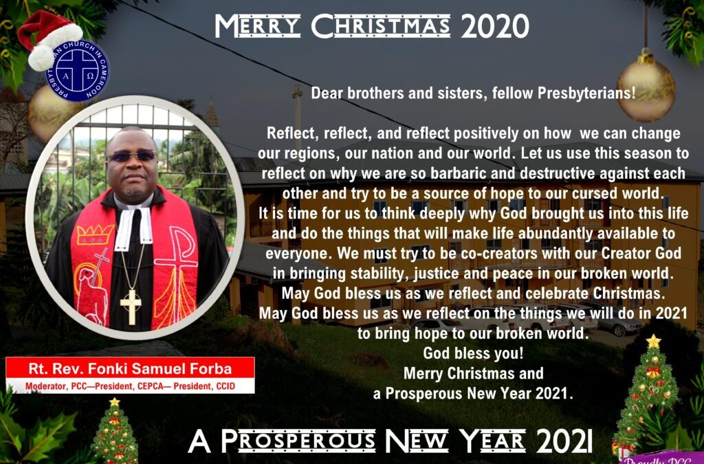 Message of the Moderator on Christmas 2020 and New Year 2021
